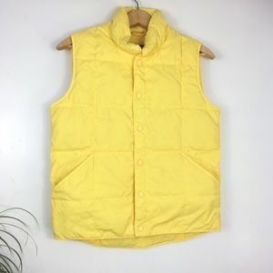 Lands End Yellow Down Vest Puffer
